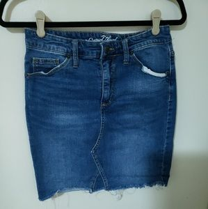 Denim Skirt, Mid Thigh Length, Sized 8